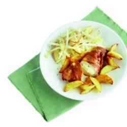 Kipfilet met kruidenkaas en rauwe ham recept