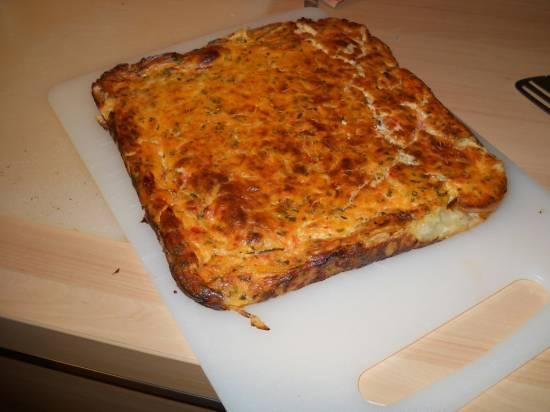 Hartige taart of quiche met tomaten, kaas en basilicum recept ...