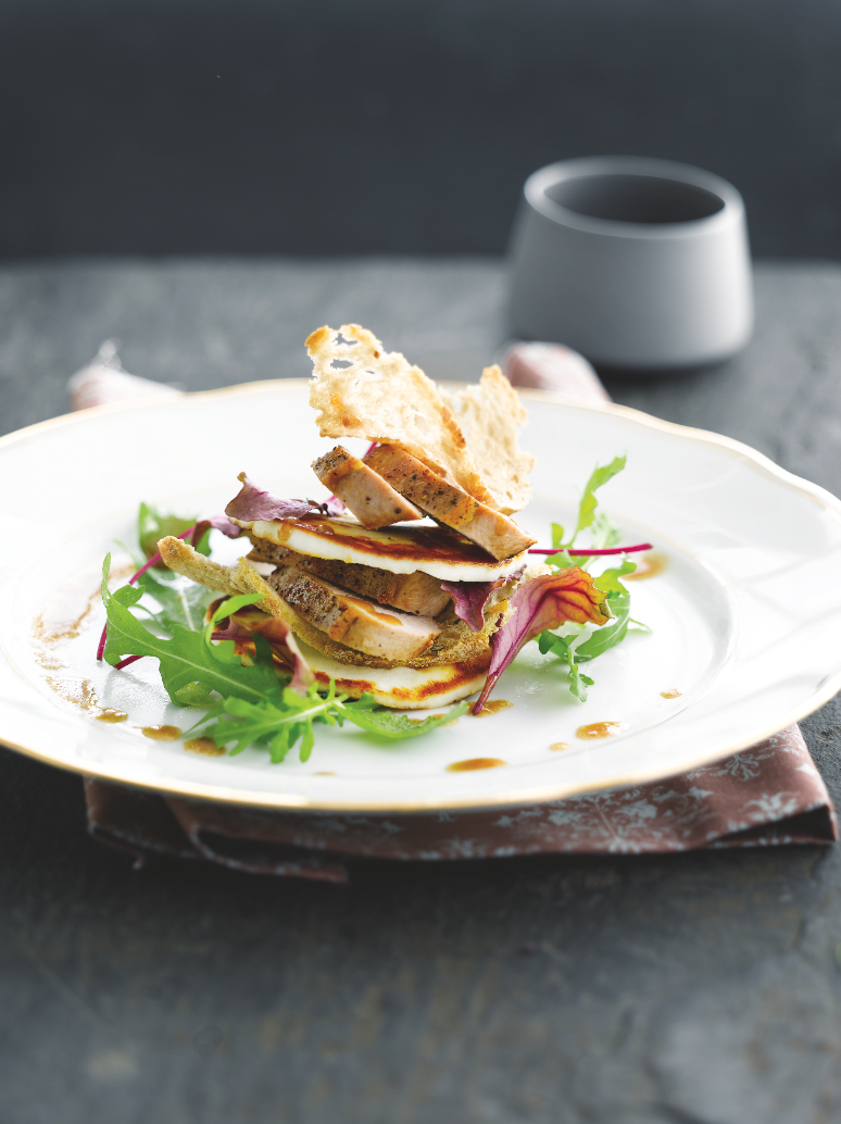 Recept 'feestelijke fazantsalade'
