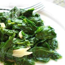 Spinazie met knoflook recept