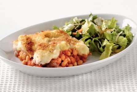 Ovenschotel witte bonen in tomatensaus