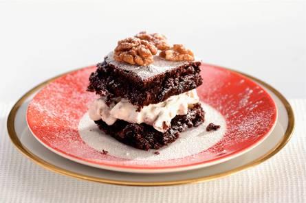 Gevulde brownies