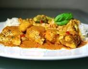 Gemakkelijke thaise kokos curry kip recept
