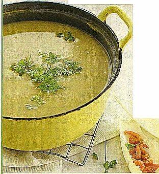 Witloofsoep met grijze garnalen recept