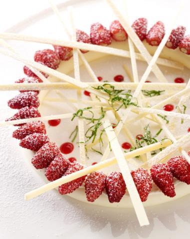 Recept 'panna cotta met aardbeien'