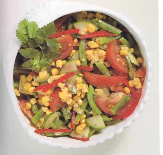 Een super zomersalade die lekker is voor picknick of koud bu ...