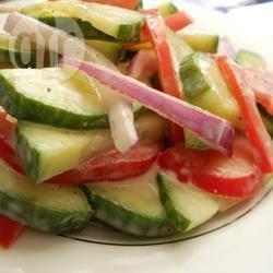 Frisse komkommersalade recept