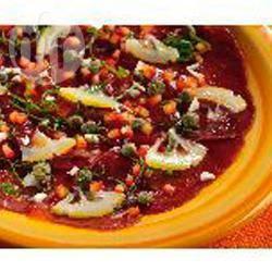 Rundvleescarpaccio met rode paprika recept