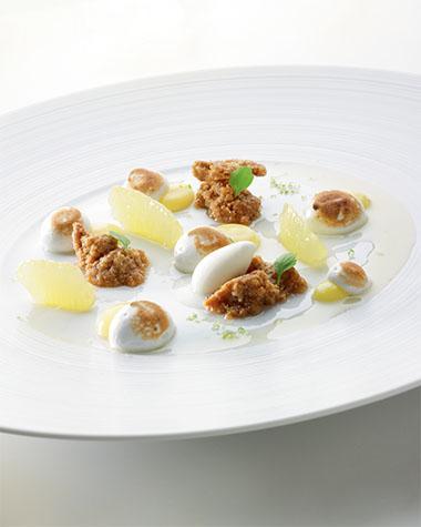 Recept 'citruscrumble met crème van citroen'