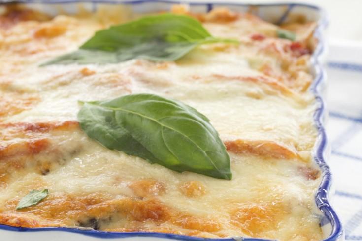 Supersimpele vega lasagne met courgette & aubergine
