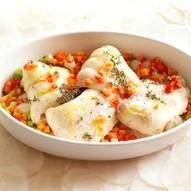 Urker schelvis met uitjes uit de oven recept