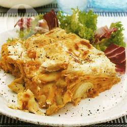 Lasagne met flageolets en linzen recept