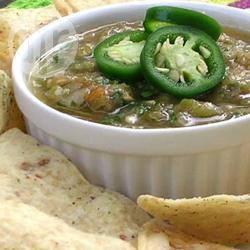 Pittige groene salsa recept