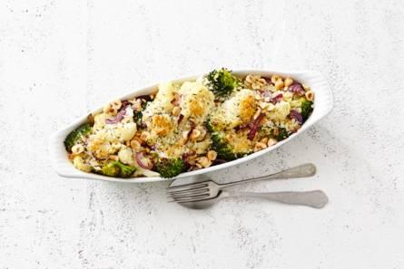 Bloemkool- en broccoliroosjes