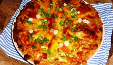 Witloftaart met ham en kaas recept