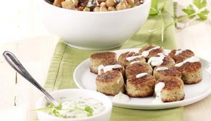 Falafel met stoofpotje van aubergine en kikkererwten recept ...