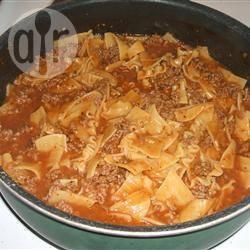Lasagnette uit de koekenpan recept