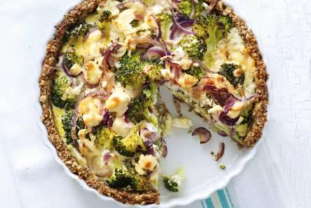 Broccoli-geitenkaasquiche