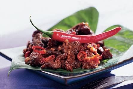 Rundvlees met ketjap en kruiden