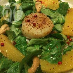 Salade met sint-jakobsschelpen en sinaasappel recept