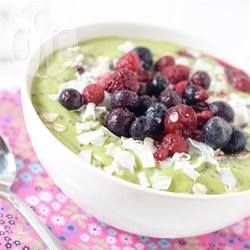 Groene smoothie bowl recept