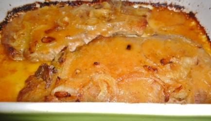 Karbonades uit oven in ananassaus recept