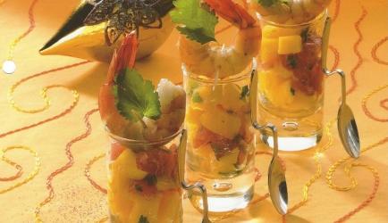 Gamba met mangotartaar als voorgerecht of amuse recept ...