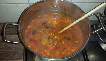 Chili con carne-soep recept