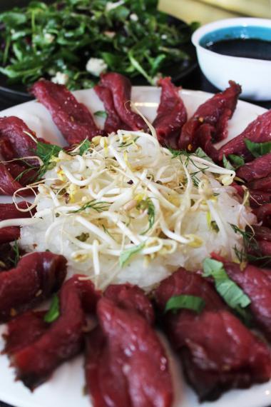 Recept 'gravad vlees met sla van daikon'
