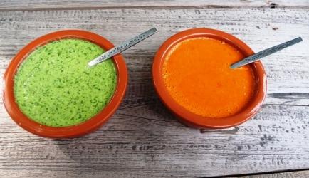 Tapas: mojo rojo&mojo verde(rode en groene dipsaus) recept ...