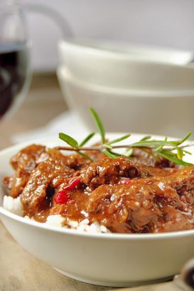 Recept 'stoofpotje rundsvlees met cranberry'