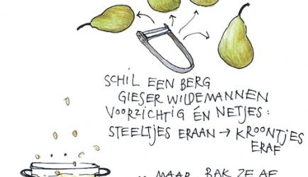 Stoofperen in kruidige witte wijn-karamelsaus recept