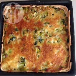 Preitaart met spek en kaas recept