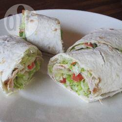 Caesar salad wrap recept