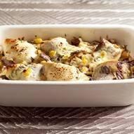 Ovenschotel van makreel en aubergine recept