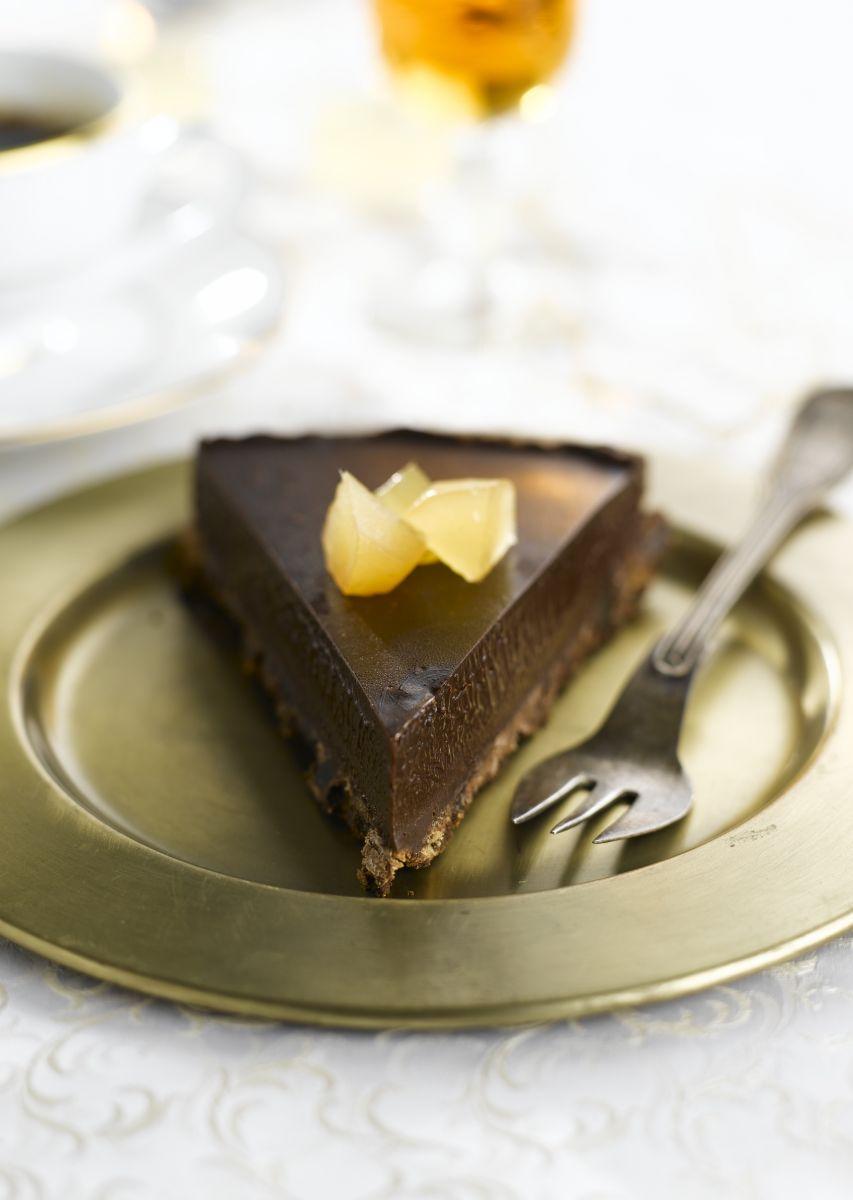 Recept 'chocoladetaart met gember'