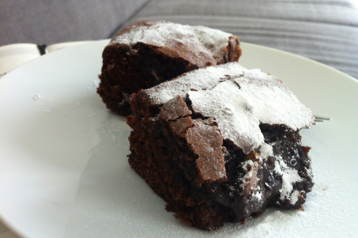 Culy's classic chocolate chip brownies recept