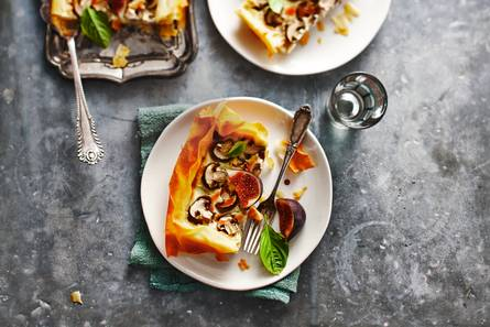 Quiche met gorgonzola en vijg
