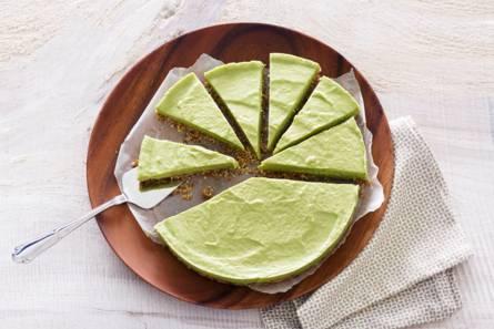 No bake avocado-cheesecake