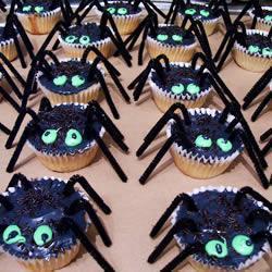 Spinnen cupcakes voor halloween recept