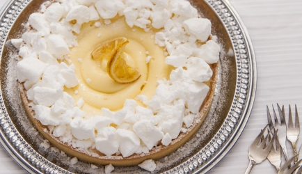 Citroentaart met knapperige meringue recept