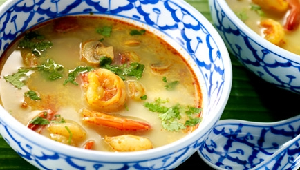 Tom yam khung (garnalensoep met citroengras) recept