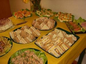 Sandwiches voor een high tea recept
