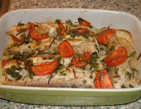 Rode poon uit oven met groene kruiden recept