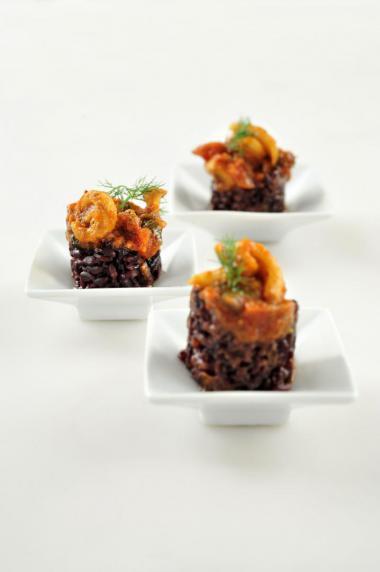 Recept 'risotto met inktvis'