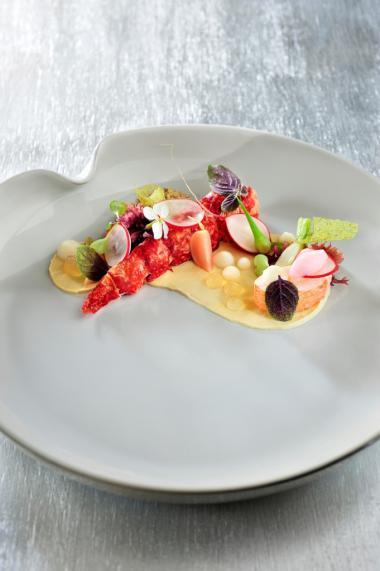 Recept 'noorse kreeft met gemarineerde radijzen, algen en ...