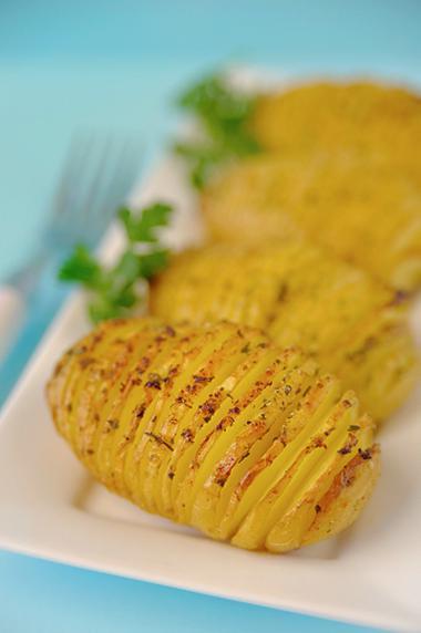 Recept 'hasselback aardappelen'