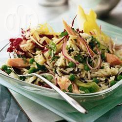 Salade van risi bisi met ham recept