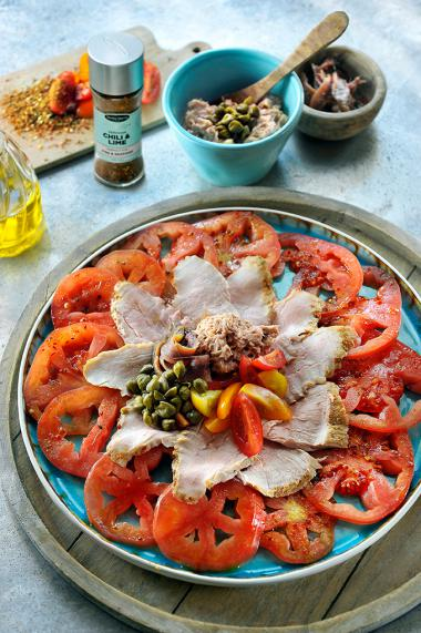Recept 'vitello tomate'