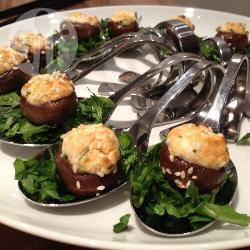 Amuselepel: gevulde champignons met geitenkaas recept ...